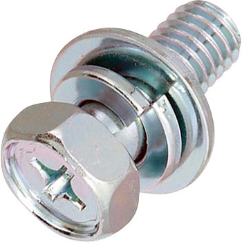 Upset Head Bolt P3 with SW and W, Trivalent Chromate White