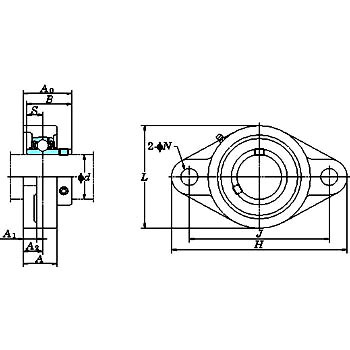 UCFL sebum flange type (cylindrical bore)