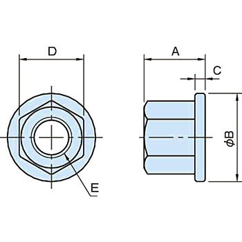 BJ 740 Flange Nut (Flat Type)