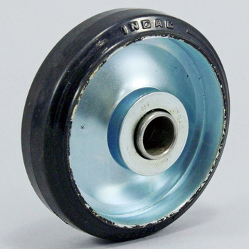 Steel Plate Made Rubber Wheels, With Bearings
