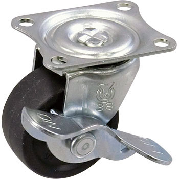 Rubber caster G Series Swevel Caster, Stopper