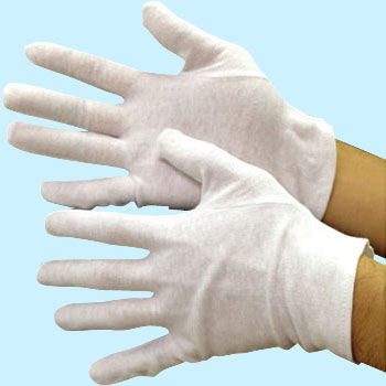 Cotton Smooth Gloves, Without gusset