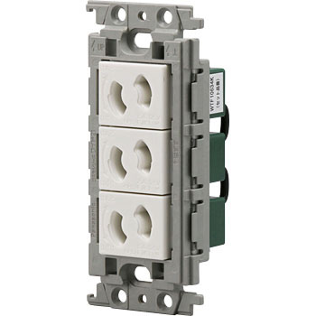 Cosmo series embedded retaining triple outlet