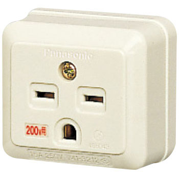 Grounding angle type outlet (250 V)