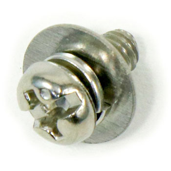 Phillips Slot Combination, Pan Head Screw, P=3, SW Plus JIS Washer Build In, Stainless Steel