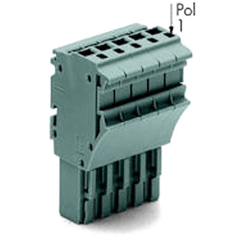 Spring-type terminal blocks 2022 series 1-wire connector plug