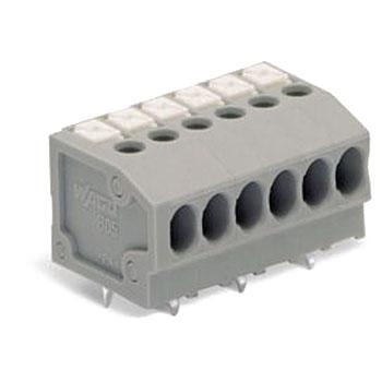 Spring type 1-wire printed circuit board terminal block 805 series