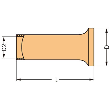Ferrule,Uninsulated Electro-Tin Plated