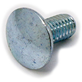 Cup Square Coach Bolt, Full Threaded, Iron Uni Chromate