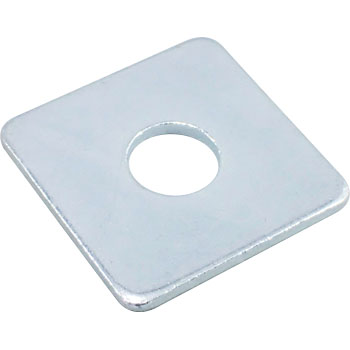 Square Washer Large, Iron, Uni Chromate
