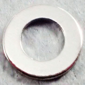 ISO Flat Washer, Small, Brass, Nickel