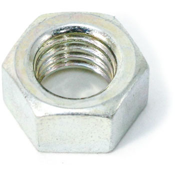Small Hex Nut, Iron, Uni Chromate, Packed Product