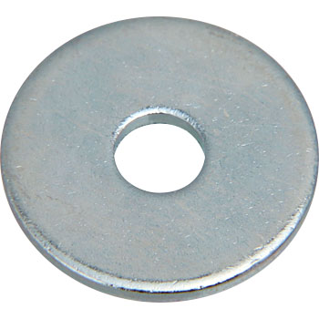 Round Washer, Large, Iron, Uni Chromate, Small Pack