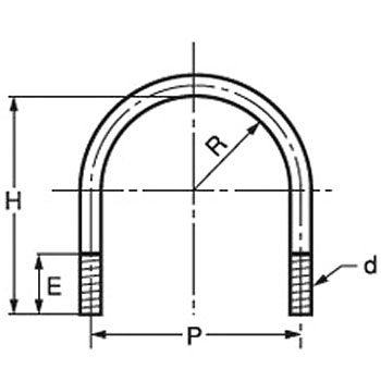 U-bolt pipe (iron / Dov)