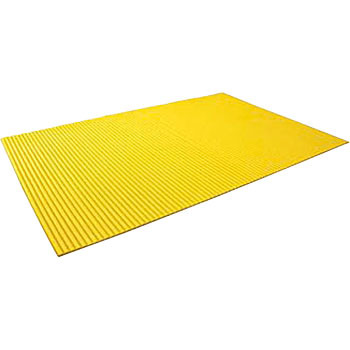 Bellows mat with adhesive