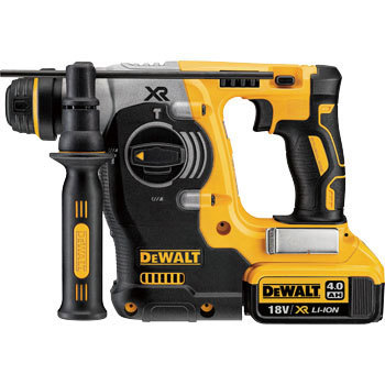 18V rechargeable SDS hammer drill with 2 batteries