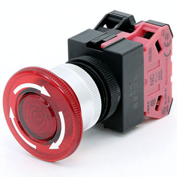 TW series illuminated pushbutton switch large (phi40 button) Push-lock turn reset (LED)