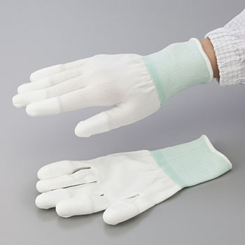 Cool PU Gloves, Overlock Knit Fingertips