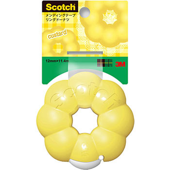 Scotch mending tape ring donut