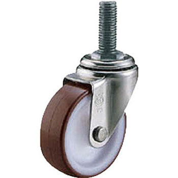 Screw-in type stainless steel caster 50 diameter urethane car