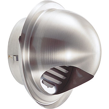 Stainless steel round hood with draining rattle