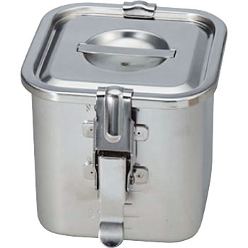 Angle kitchen pot with 18-8 graduated packing hook (with lid)
