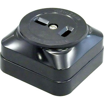 2P 20A square outlet (black)