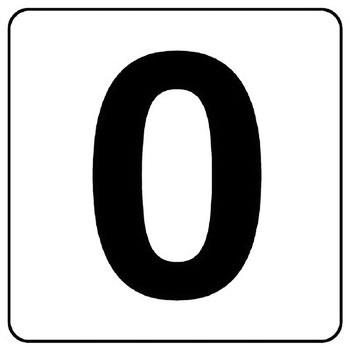 Number ticket sticker