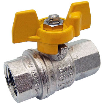 Nickel plated full ball ball valve butterfly handle