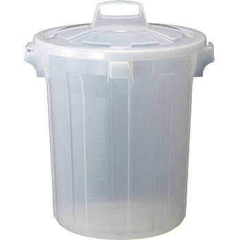 Semi-transparent PP pail round