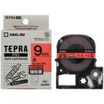 Label Cartridge, TEPRA PRO Tape Strong Adhesive Label Red Label Black Character