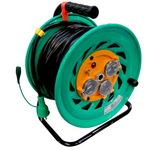 Outdoor Single Phase 100V Grounding Outlet Cord Reel