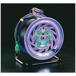 100Vx15A50m cord reel with earth leakage breaker