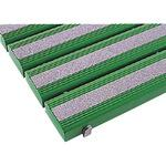 Antibacterial non-slip safety gridiron green