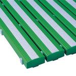 Antibacterial non-slip safety gridiron green 600 x 860mm