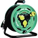 Rainproof type commercial forces reel single-phase 100V 3.5sq 30m with breaker
