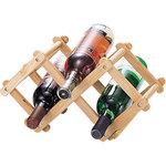 Flare wine bottle rack