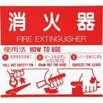 Fire extinguisher handling display plate seal