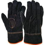 No.19 black oil leather hand
