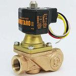 PS23 - W Momotaro II Bronze solenoid valve 【Screwed in, with strainer · energized open】