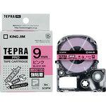 Tepra PRO tape strong adhesive label (pink black character)