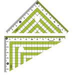 Color triangle ruler Green
