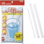 Straight straw with bag 18 Cm 100 pieces