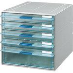 Letter case  transparent drawer A4 vertical shallow 4+ depth one stage