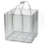 Stainless steel angle type cleaning basket (have chauffeur)