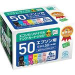Recycling Ink EPSON Corresponded, IC50 Type, 6 Color Pack, Ink Remaining Amount Indication