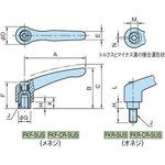 Clamp lever (male screw , stainless steel) FKR