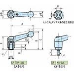 Clamp lever (male screw , stainless steel) KR