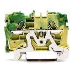 Spring type rail mount terminal block 2004 series for earth