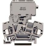 Spring type rail mount terminal block 281 series Fuse disconnecting terminal block